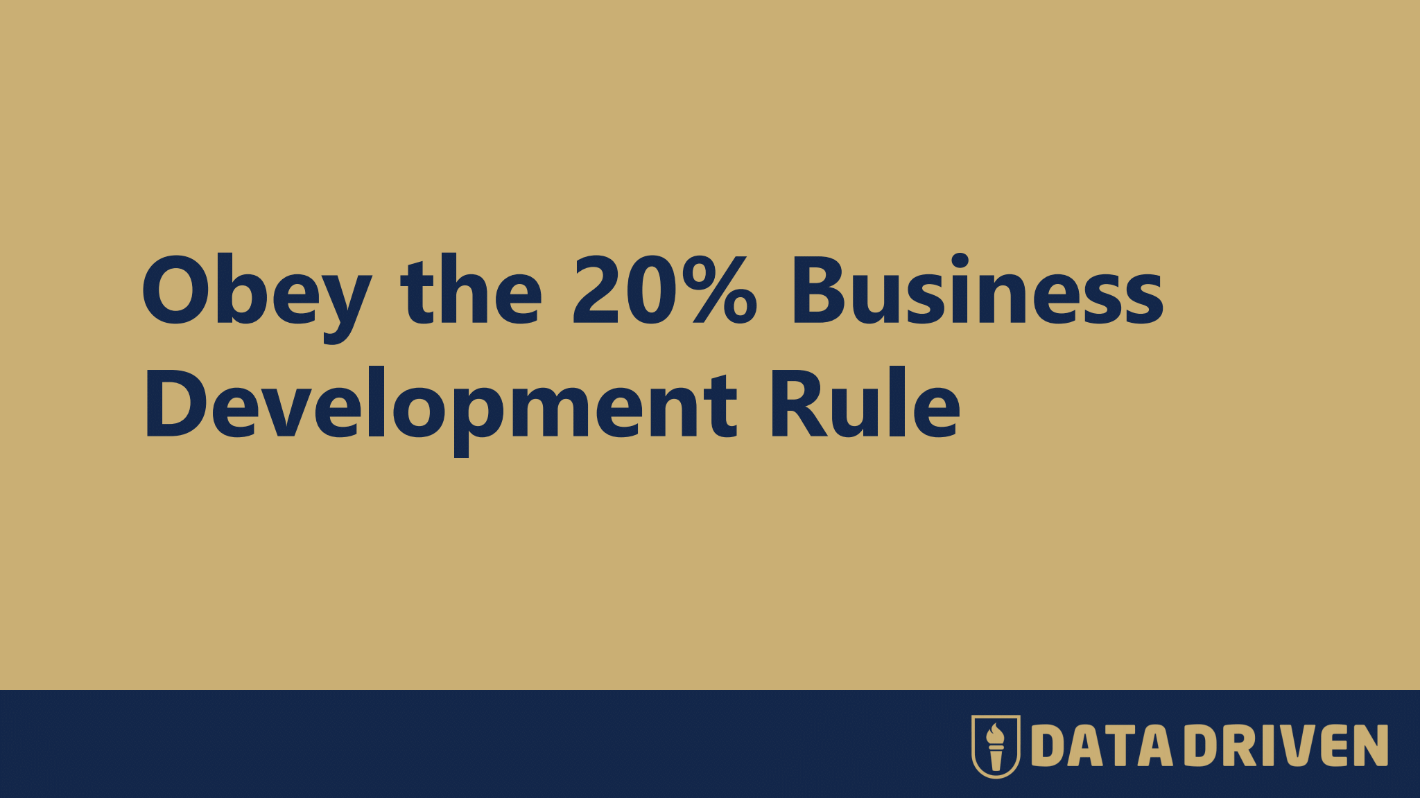 The 20% business development rule