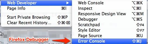 Firefox Error Console