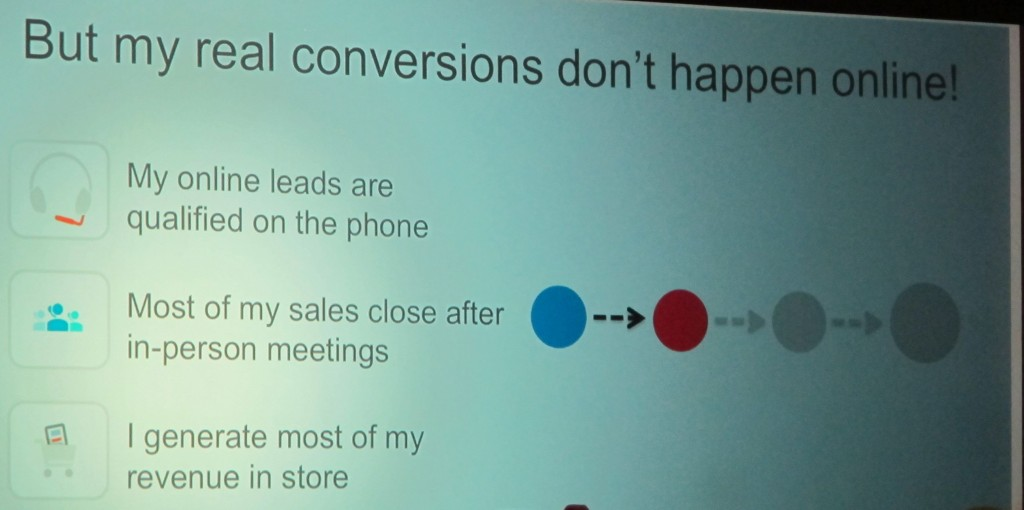 Not All Conversions Happen Online