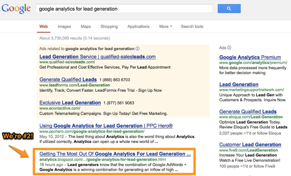 Google Analytics for Lead Generation