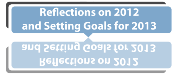 Reflections on 2012 and Goals for 2013