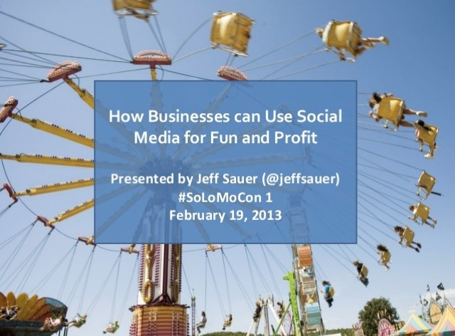 Business Social Media for Fun and Profit