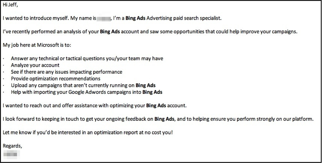 Bing Ads Optimization Email Clean