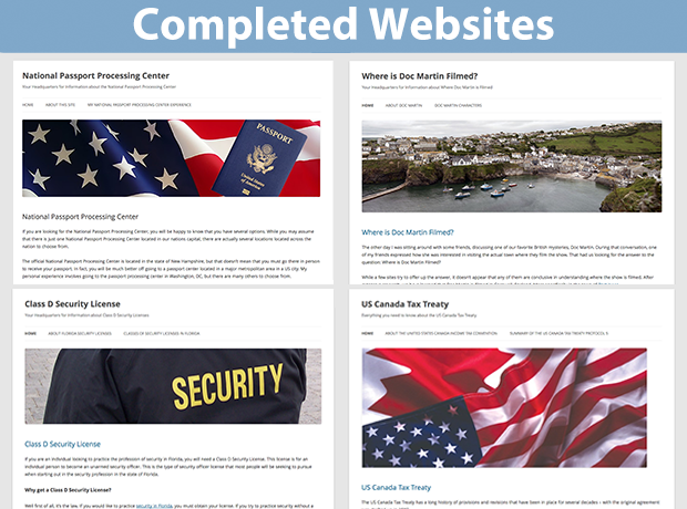 Completed Website Designs