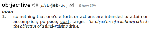 Objective Definition