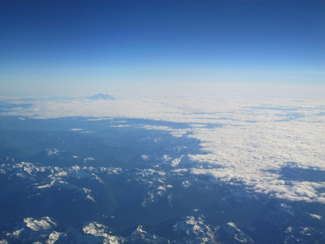 Mount Rainier Above Clouds