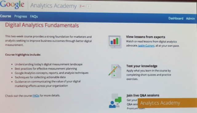 Google Analytics MOOC