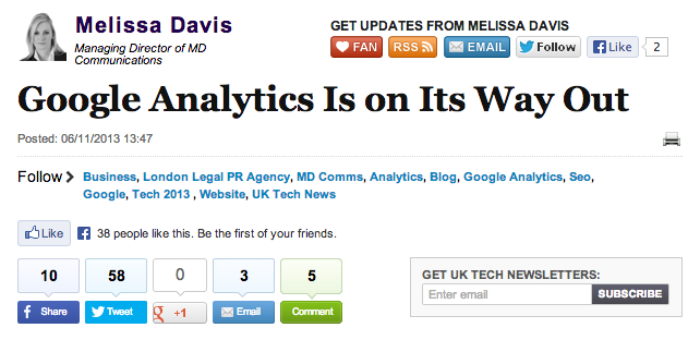 Google Analytics Dying