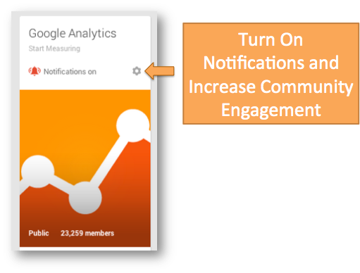 Google Plus Community Notifications