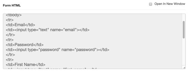 Form HTML OP