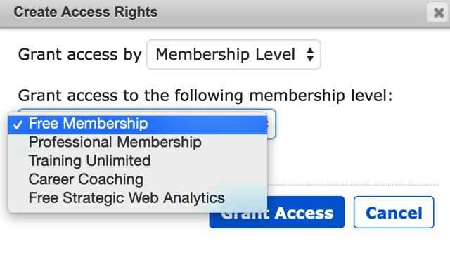 Granting Access MemberMouse
