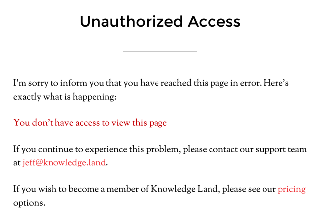 Unauthorized Access MemberMouse