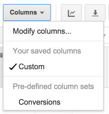 Conversions Columns