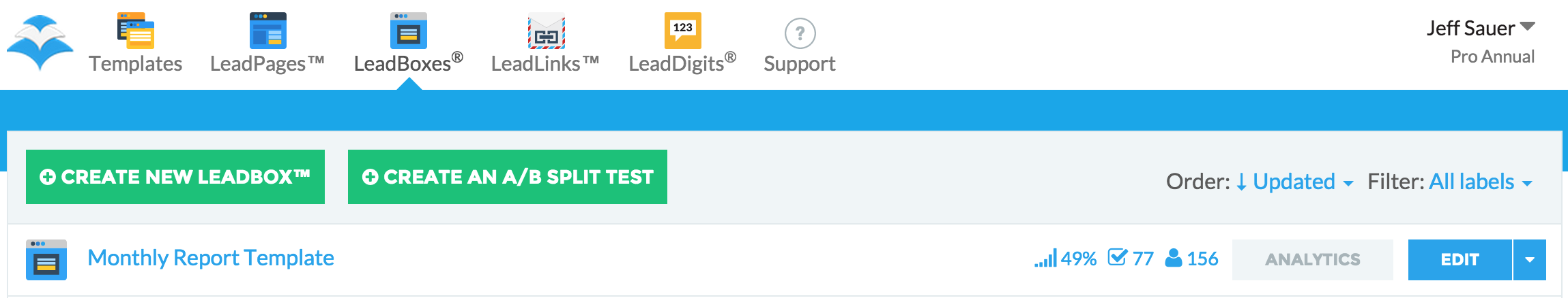 LeadPages Email Collected
