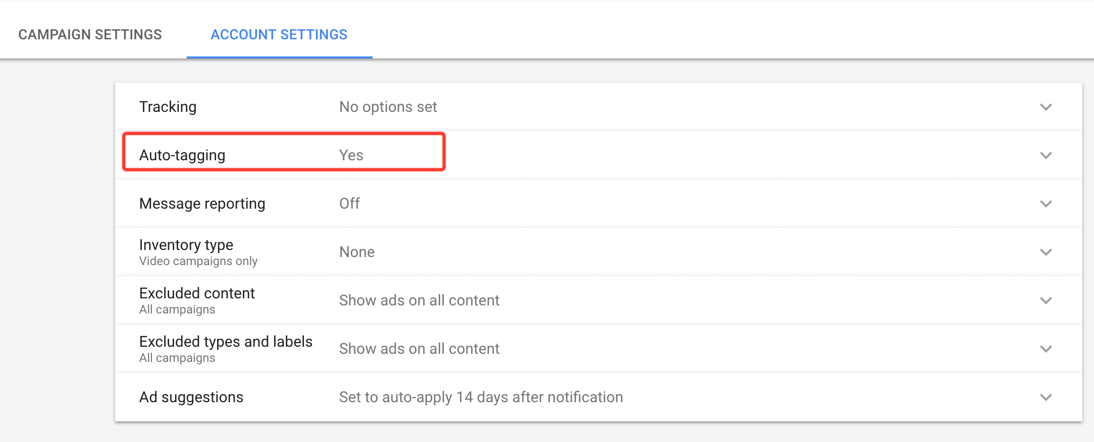 auto tagging google ads campaigns