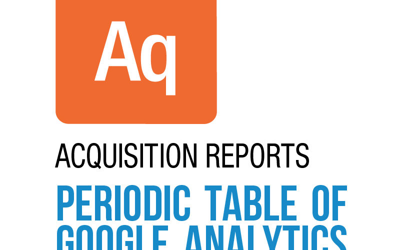 Acquisition reports in Google Analytics