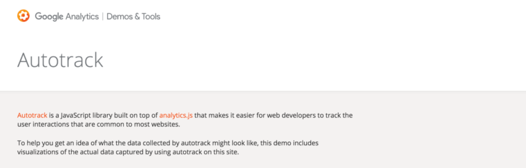 Google Analytics autotrack for tracking downloads