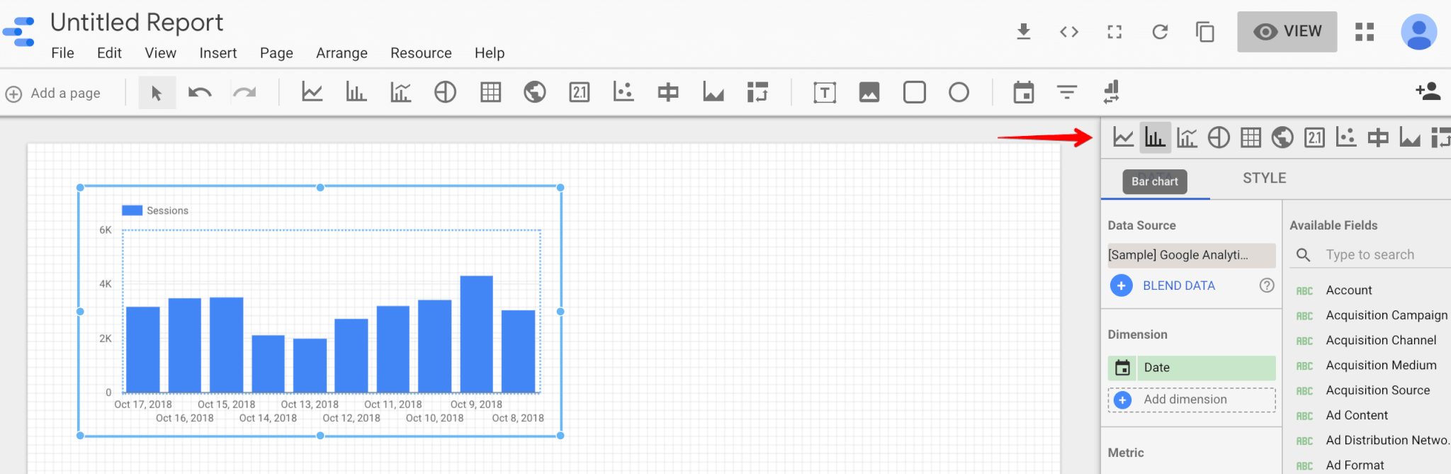 Change the graphics your using in Google Data Studio