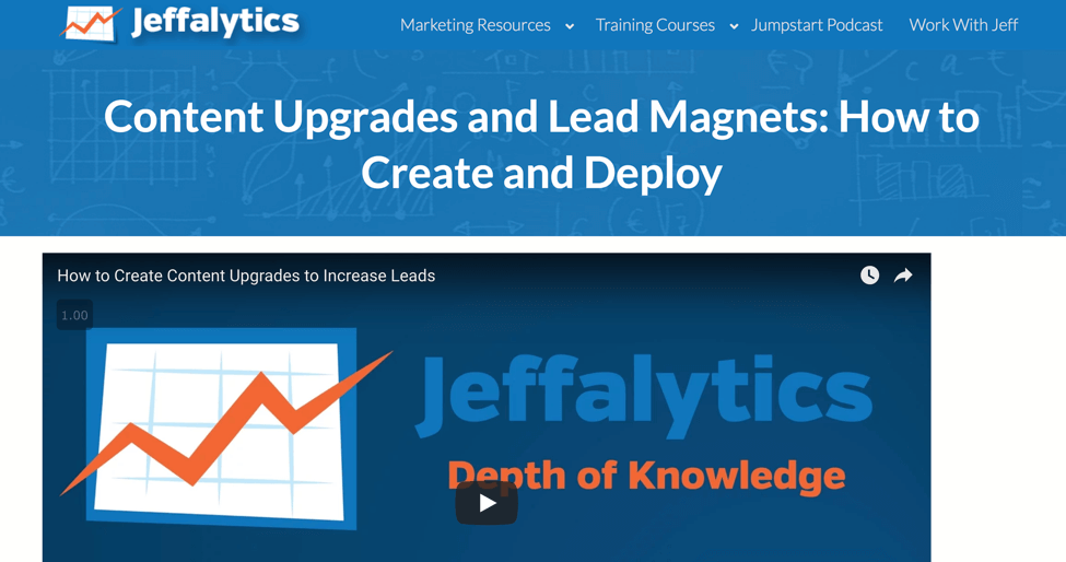 creating lead magnets to increase page value