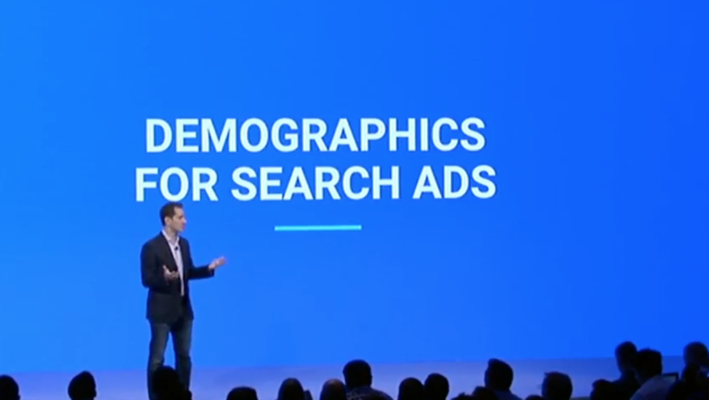 Demographics for Search Ads