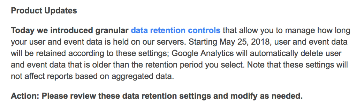 Google introduces data retention controls