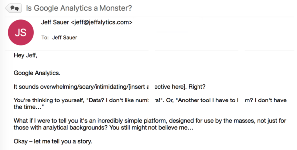 Is Google Analytics a Monster