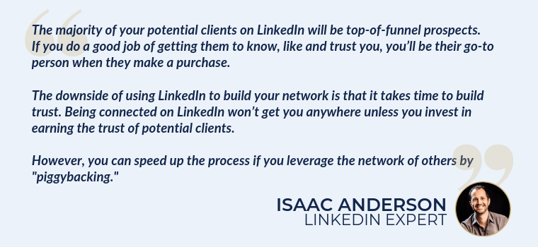 Generating top of funnel leads with linkedIn
