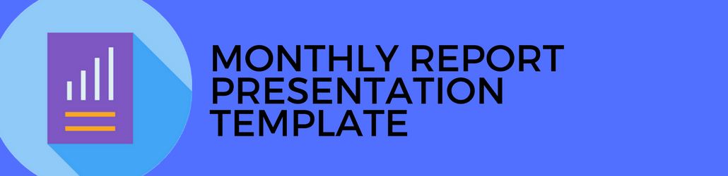 monthly report presentation template for digital marketing programs