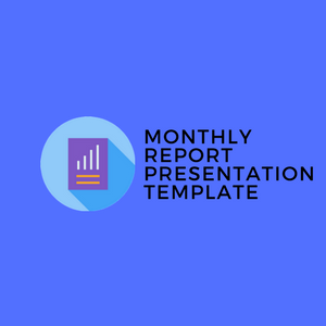 Monthly Report Presentation Template for Digital Marketing