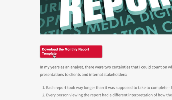 Monthly Report Template Integration