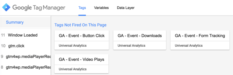 Google Tag Manager Tutorial - Preview tags fired