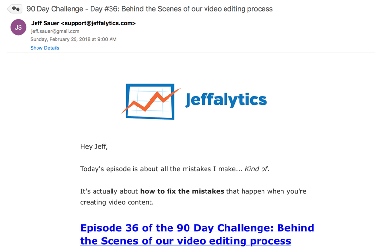 90 day challenge email delivery process