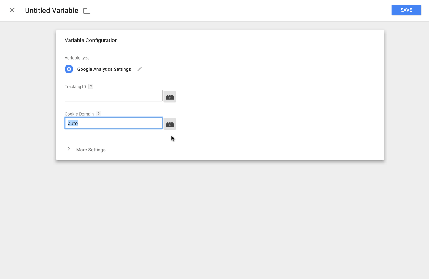 Google Analytics cookie domain