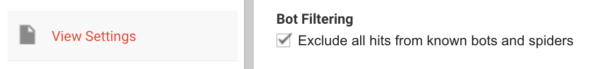 Bot filter Google Analytics