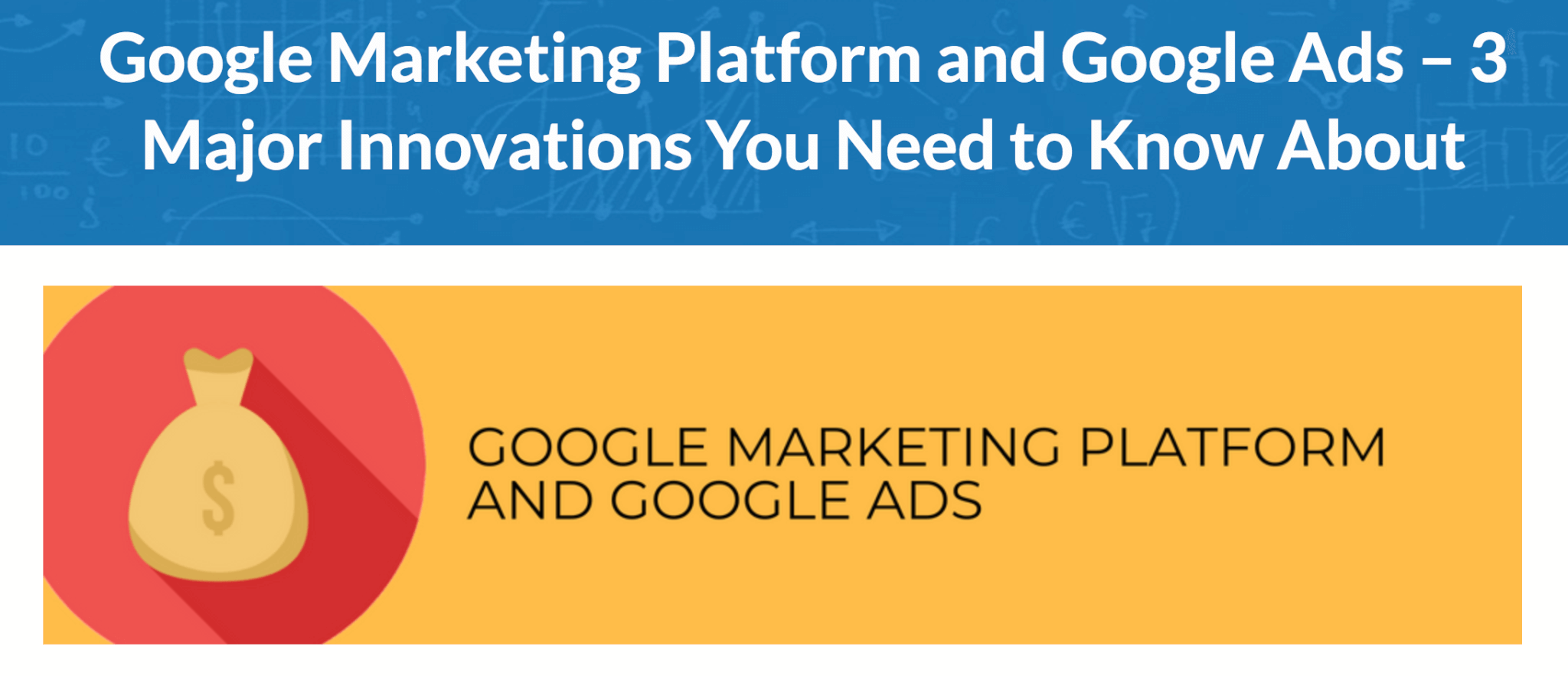 Google marketing platform blog from jeffalytics