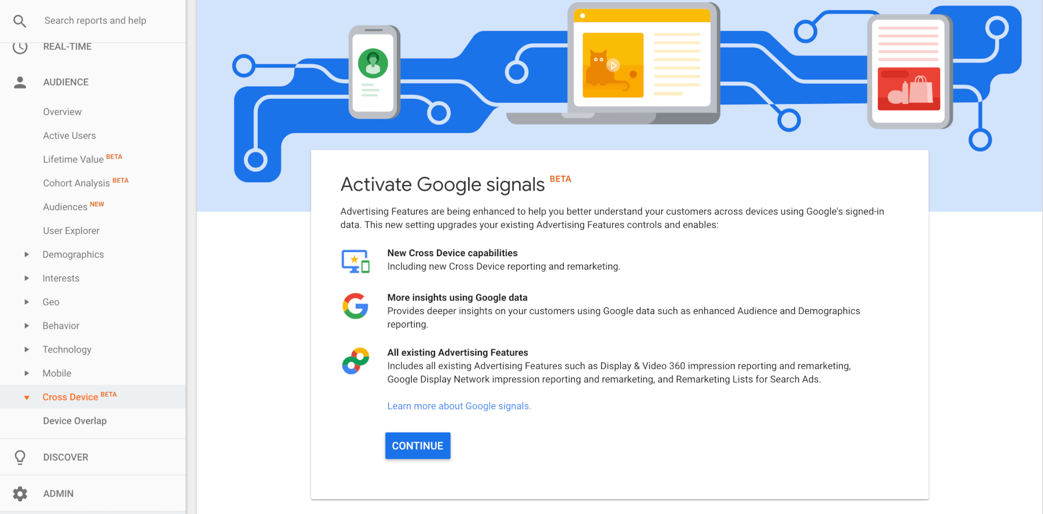 Setting up Google Signals