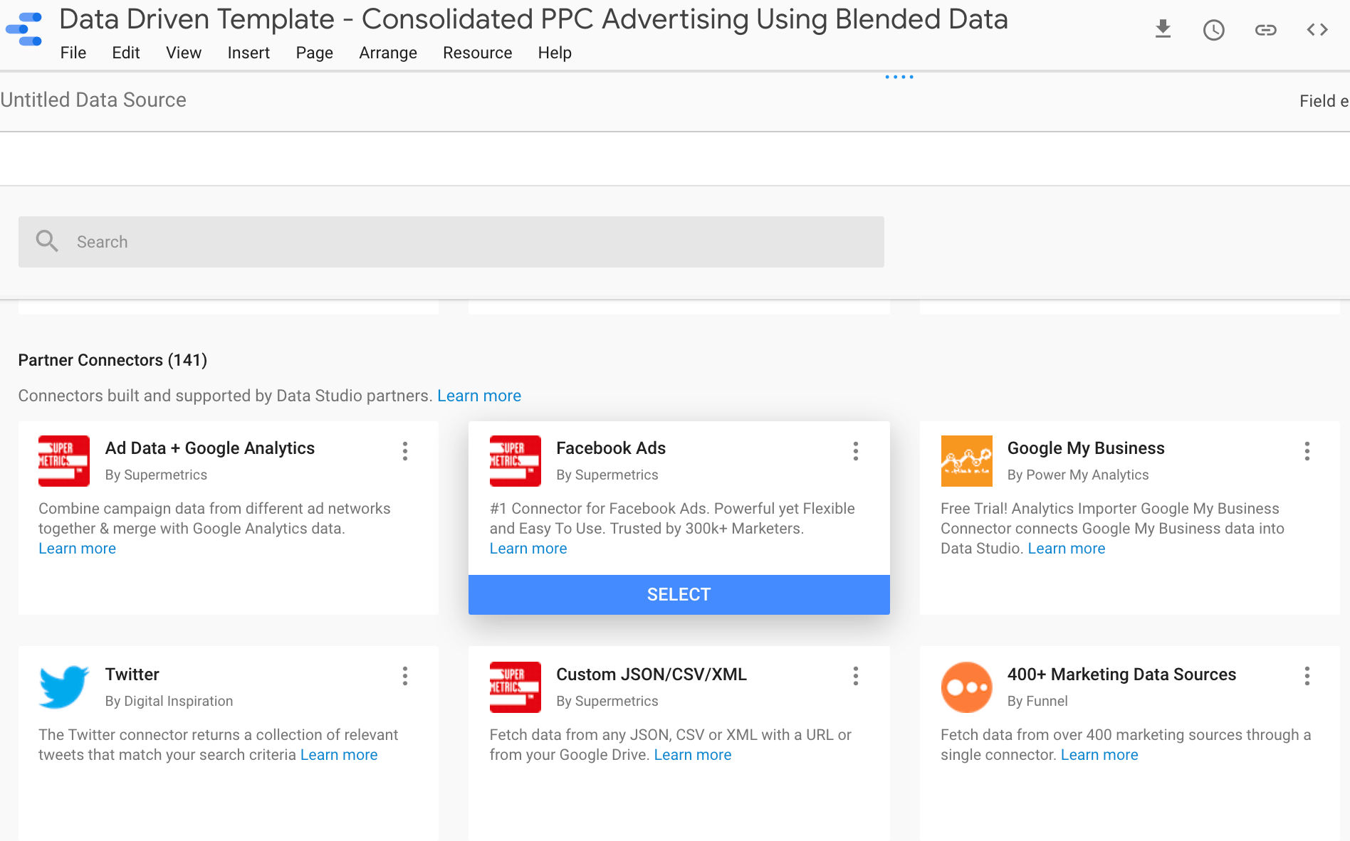 Connecting Data Sources in Google Data Studio