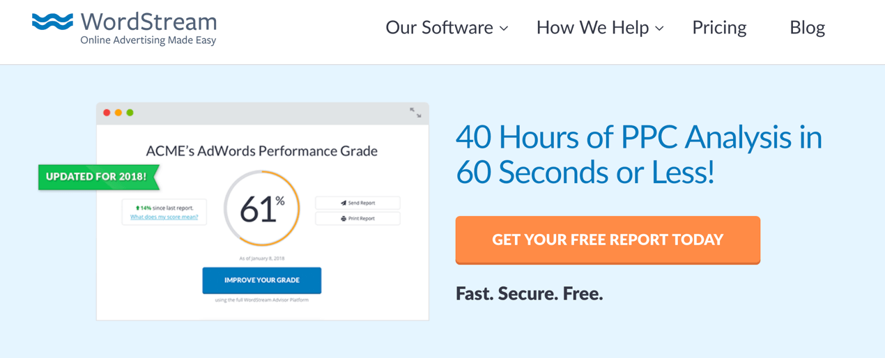 Wordstream ads account score
