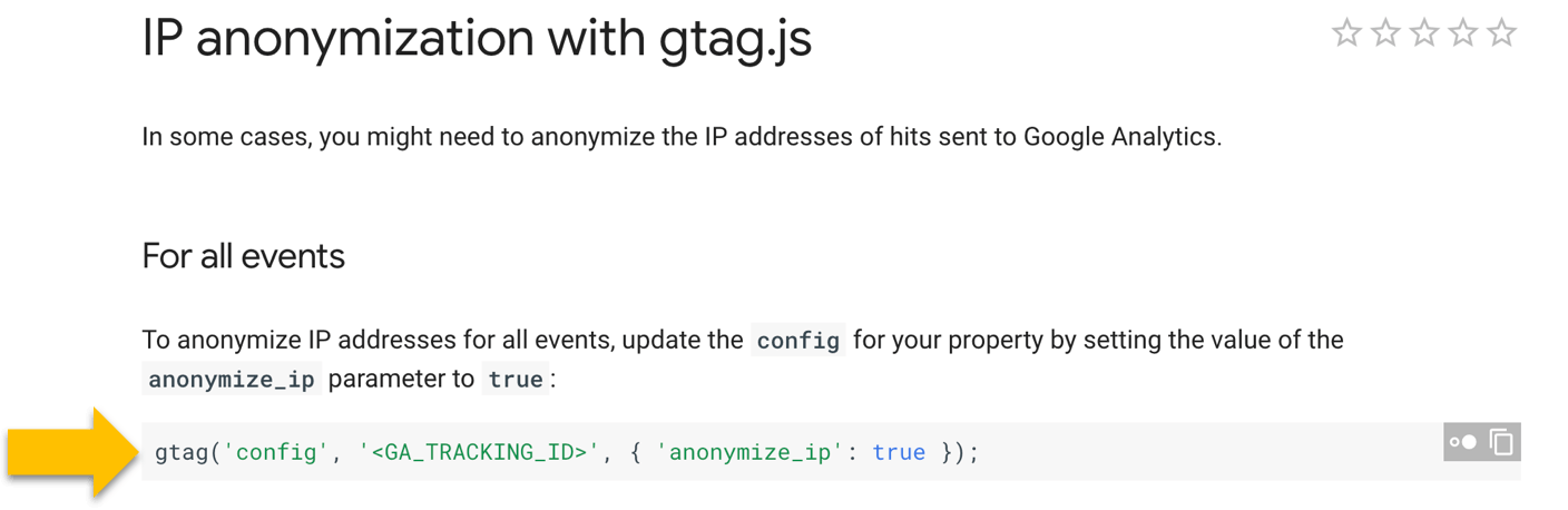 gtag.js tracking and anonymizing IPs for GDPR