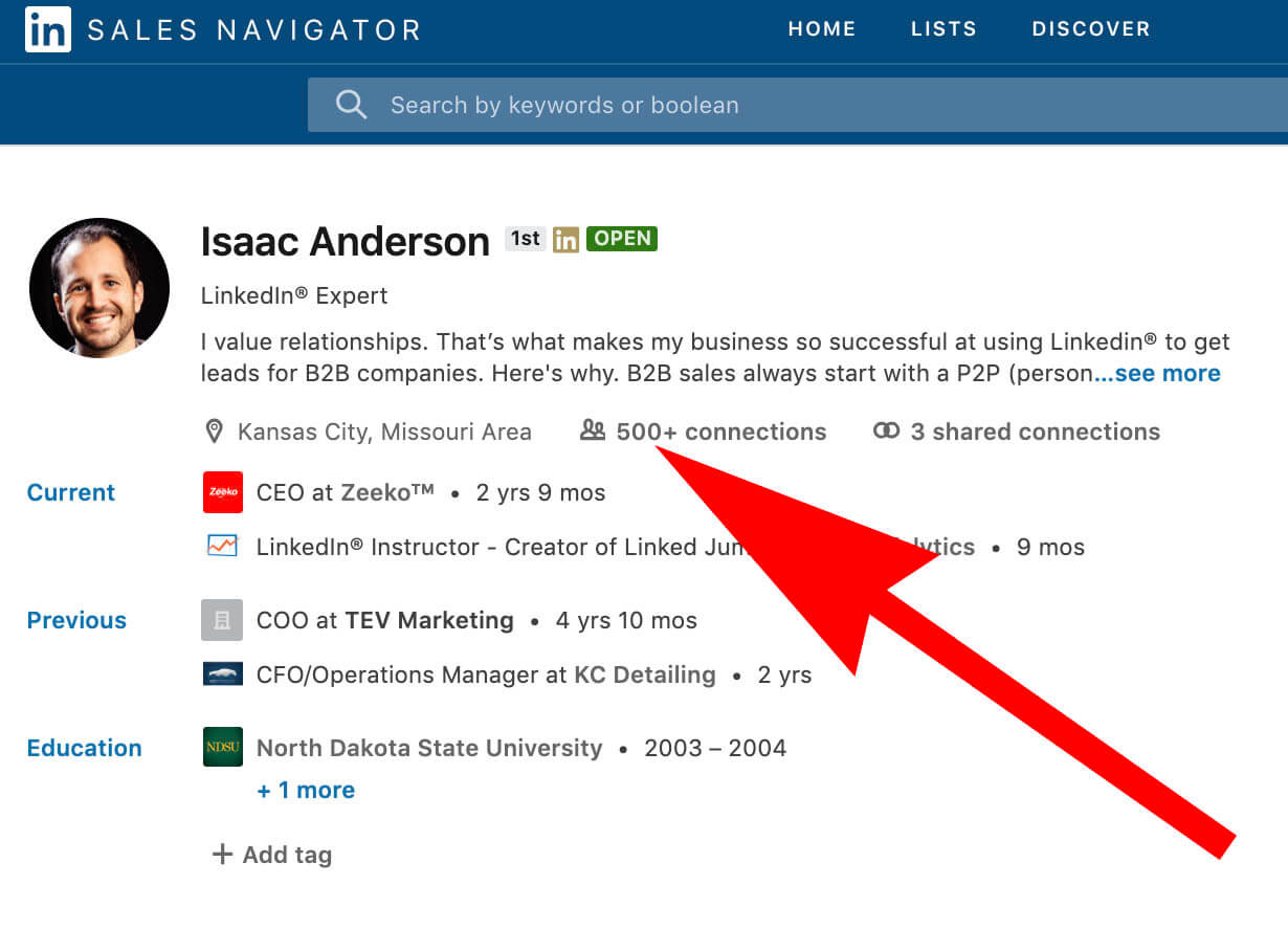 Use LinkedIn to generate top-of-funnel leads